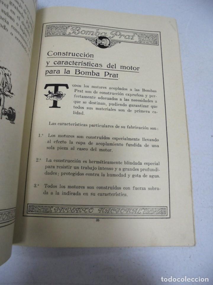 Catálogos publicitarios: CATALOGO PUBLICITARIO. BOMBA PRAT. ILUSTRADO. VER INTERIOR. AÑOS 50 - Foto 2 - 154098102