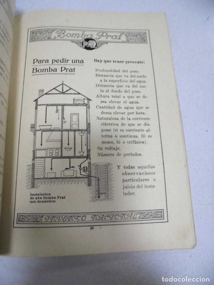 Catálogos publicitarios: CATALOGO PUBLICITARIO. BOMBA PRAT. ILUSTRADO. VER INTERIOR. AÑOS 50 - Foto 6 - 154098102