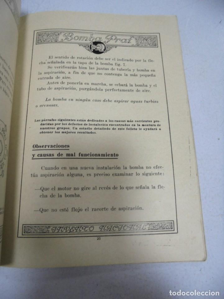 Catálogos publicitarios: CATALOGO PUBLICITARIO. BOMBA PRAT. ILUSTRADO. VER INTERIOR. AÑOS 50 - Foto 7 - 154098102