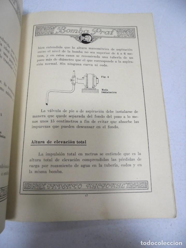 Catálogos publicitarios: CATALOGO PUBLICITARIO. BOMBA PRAT. ILUSTRADO. VER INTERIOR. AÑOS 50 - Foto 9 - 154098102