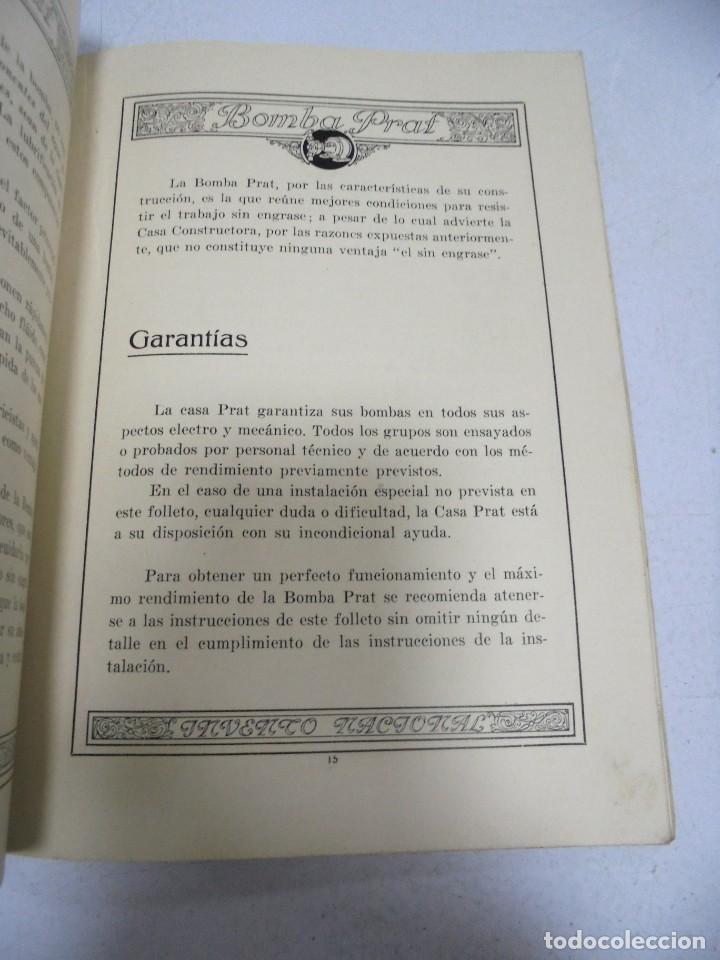 Catálogos publicitarios: CATALOGO PUBLICITARIO. BOMBA PRAT. ILUSTRADO. VER INTERIOR. AÑOS 50 - Foto 10 - 154098102