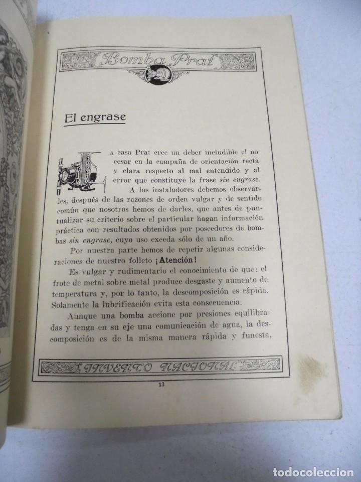 Catálogos publicitarios: CATALOGO PUBLICITARIO. BOMBA PRAT. ILUSTRADO. VER INTERIOR. AÑOS 50 - Foto 11 - 154098102
