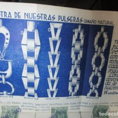 Catálogos publicitarios: CATALOGO ANTIGUO JOYERIA PERERA CUPONES PARA CONSEGUIR JOYAS PLATA HOGAR INDUSTRIAL MADRID. Lote 154460246
