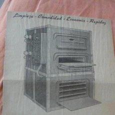 Catálogos publicitarios: ANTIGUO FOLLETO HORNO ELECTRICO.TALLERES JUAN BORRELL S,A BARCELONA AÑOS 30,40?. Lote 154725246