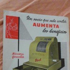 Catálogos publicitarios: ANTIGUA PUBLICIDAD.REGISTRADORA HIJO DE ROCA ROCH.HOSPITALET-BARCELONA AÑOS 40.50. Lote 154742894