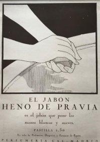 1920 Publicidad Heno de Pravia con passpartú 30x40,1 cm