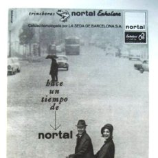Catalogues publicitaires: HOJA PUBLICITARIA - TRINCHERA NORTAL ENKALENE - AÑO 1964 - MEDIDAS APROX 13 X 18 CMS.. Lote 39290909