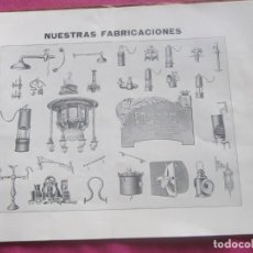 Catálogos publicitarios: LAMPARAS DE MINAS CATALOGO DE ADARO MUY ANTIGUO.. Lote 155404378