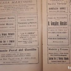 Catálogos publicitarios: CATÁLOGO CON PUBLICIDAD DE MÁLAGA AÑO 1924. Lote 155658702