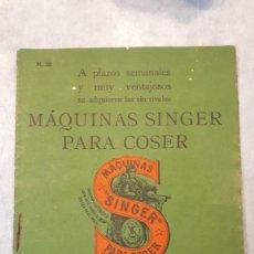 Catálogos publicitarios: CATÁLOGO MÁQUINAS SINGER. 1924.. Lote 155671522
