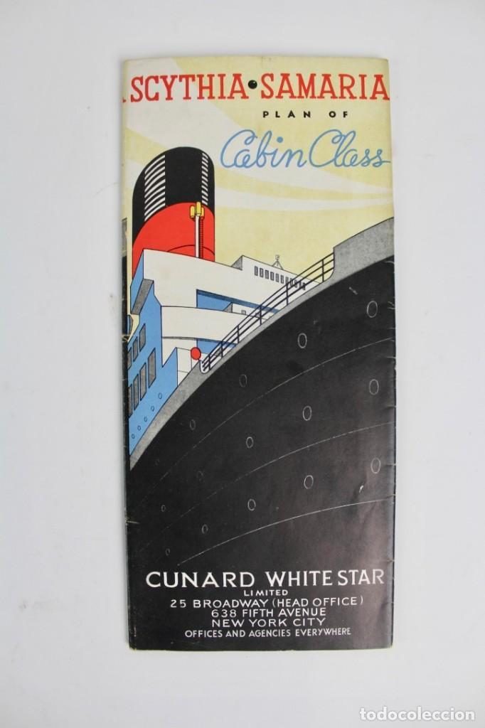 PR-963. CATALOGO DE BARCO .SCYTHIA SAMARIA PLAN OF CABIN CLASS .CUNARD WHITE STAR.AÑO 1936 (Coleccionismo - Catálogos Publicitarios)