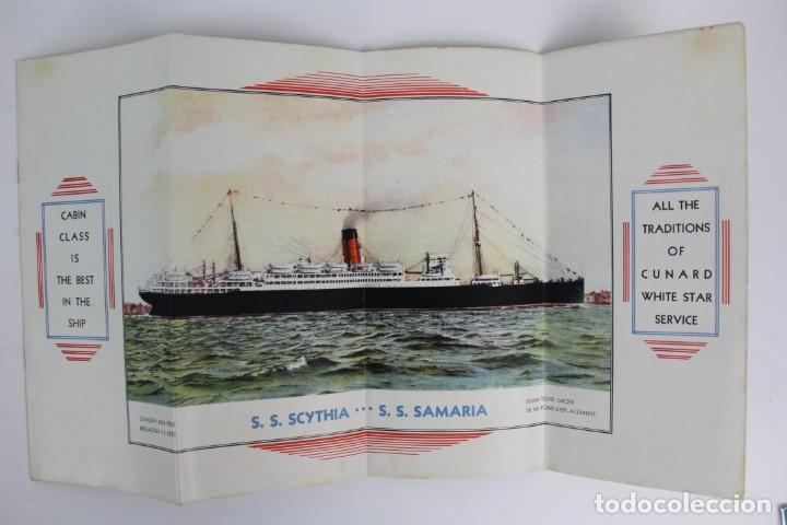 Catálogos publicitarios: PR-963. CATALOGO DE BARCO .SCYTHIA SAMARIA PLAN OF CABIN CLASS .CUNARD WHITE STAR.AÑO 1936 - Foto 3 - 156175346