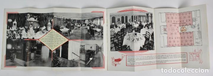 Catálogos publicitarios: PR-963. CATALOGO DE BARCO .SCYTHIA SAMARIA PLAN OF CABIN CLASS .CUNARD WHITE STAR.AÑO 1936 - Foto 4 - 156175346
