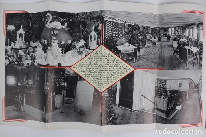 Catálogos publicitarios: PR-963. CATALOGO DE BARCO .SCYTHIA SAMARIA PLAN OF CABIN CLASS .CUNARD WHITE STAR.AÑO 1936 - Foto 5 - 156175346