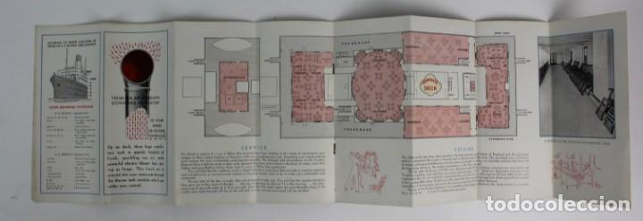 Catálogos publicitarios: PR-963. CATALOGO DE BARCO .SCYTHIA SAMARIA PLAN OF CABIN CLASS .CUNARD WHITE STAR.AÑO 1936 - Foto 6 - 156175346