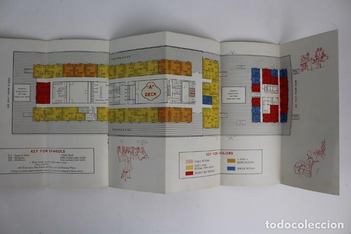 Catálogos publicitarios: PR-963. CATALOGO DE BARCO .SCYTHIA SAMARIA PLAN OF CABIN CLASS .CUNARD WHITE STAR.AÑO 1936 - Foto 7 - 156175346