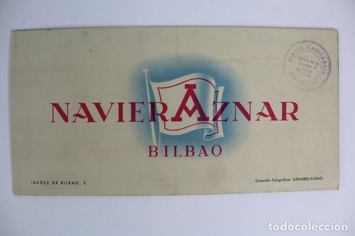 PR-964 CATALOGO DE BARCO .NAVIERA AZNAR BILBAO.BARCO MONTE ULIA.MEDIADOS DE SIGLO XX. (Coleccionismo - Catálogos Publicitarios)