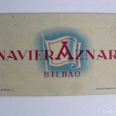 Catálogos publicitarios: PR-964 CATALOGO DE BARCO .NAVIERA AZNAR BILBAO.BARCO MONTE ULIA.MEDIADOS DE SIGLO XX.. Lote 156178962