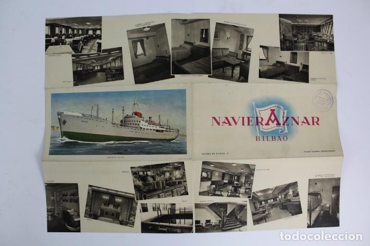 Catálogos publicitarios: PR-964 CATALOGO DE BARCO .NAVIERA AZNAR BILBAO.BARCO MONTE ULIA.MEDIADOS DE SIGLO XX. - Foto 4 - 156178962