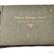 Catálogos publicitarios: VALERIANO DOMINGUEZ CARRASCO. MANUFACTURA DE PAÑUELOS.(MADRID). PRECIOSO CATALOGO.MUESTRARIO.DISEÑOS. Lote 156491434