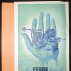 Catálogos publicitarios: FERRÉ MATHEU. PROGRAMA DE SUMINISTROS DE MAQUINARIA Y HORNOS DE PANADERÍA. AÑOS 40/50.. Lote 190738821