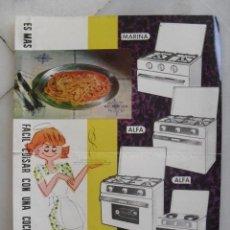 Catálogos publicitarios: HOJA PUBLICITARIA COCINAS GAYMU.. Lote 157298662