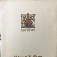 Catálogos publicitarios: PRECIOSO CÁTALOGO MAPPIN & WEBB AÑOS 20. TAMAÑO 25,5 X 19 CMS. 32 PÁGINAS. Lote 157708086