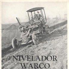 Catálogos publicitarios: NIVELADOR WARCO. W.A. RIDDELL COMPANY. BUCYRUS OHIO U.S.A.. Lote 158086994