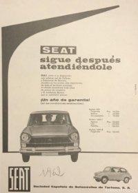 1962 Publicidad Seat