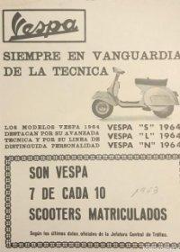 1963 Publicidad Vespa 18x25 cm