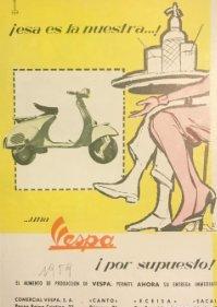 1959 Publicidad Vespa 18x25 cm