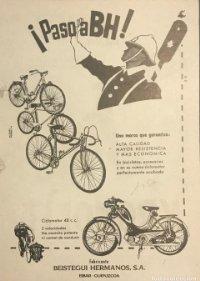 1956 Publicidad bicicletas BH 18x25 cm