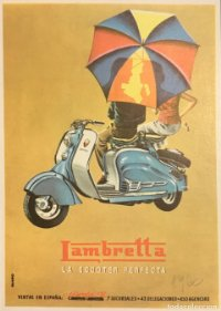 1956 Publicidad scooter Lambretta 18x25 cm