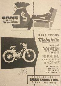 1958 Publicidad Mobylette 18x25 cm