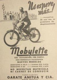 1956 Publicidad Mobylette 18x25 cm