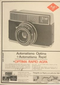 1966 Publicidad material fotográfico Agfa 18x25 cm