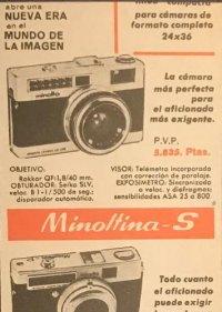1966 Publicidad Minolta 18x25 cm