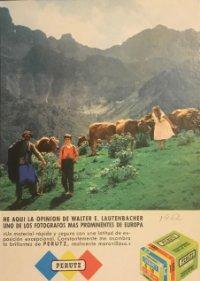 1962 Publicidad material fotográfico Perutz 18x25 cm