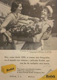 1957 Publicidad material fotográfico Kodak 18x25 cm