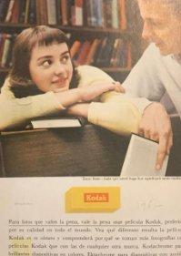 1962 Publicidad material fotográfico Kodak 18x25 cm