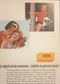 1966 Publicidad material fotográfico Kodak 18x25 cm