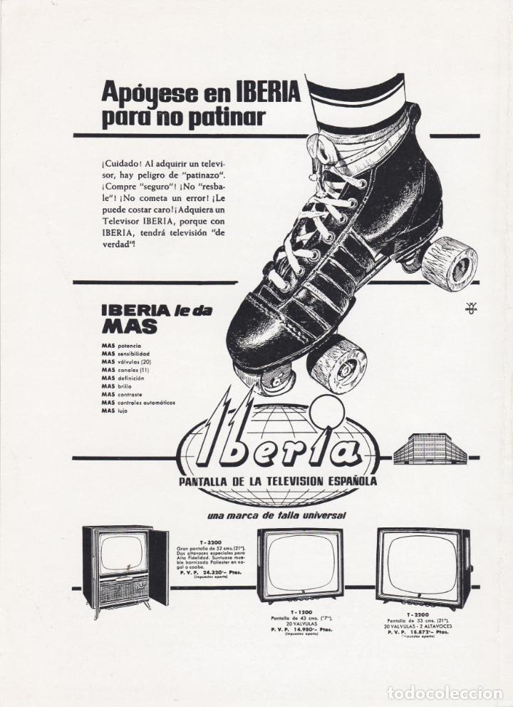 HOJA PUBLICIDAD REVISTA ANTIGUA, TELEVISION IBERIA (Coleccionismo - Catálogos Publicitarios)