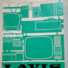 Catálogos publicitarios: LAVIS. RADIO. TV. SONIDO. CATALOGO AÑOS 70.. Lote 158729210