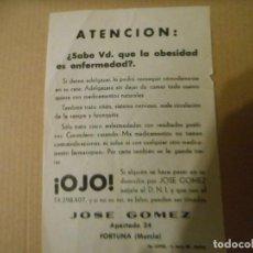 Catálogos publicitarios: CURIOSO FOLLETO PUBLICITARIO. Lote 158777230