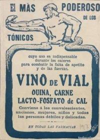 1917 Publicidad Vino de Vial 18,2x25 cm