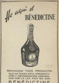 1944 Publicidad Bénédictine 18,2x25 cm