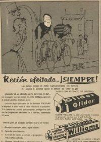 Publicidad Glider. Williams 18,2x25 cm
