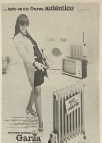 1960 Publicidad radiadores eléctricos Garza 18,2x25 cm