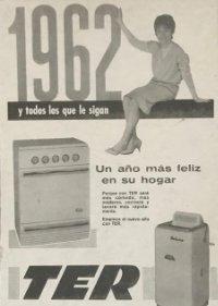 1962 Publicidad cocina y lavadora Ter 18,2x25 cm