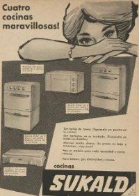 1962 Publicidad cocinas Sukald 18,2x25 cm